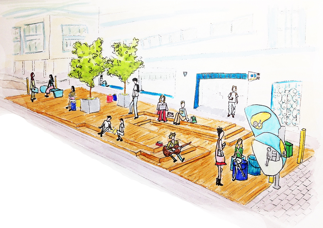 Projeto colaborativo propõe área pública de convívio no centro de Florianópolis