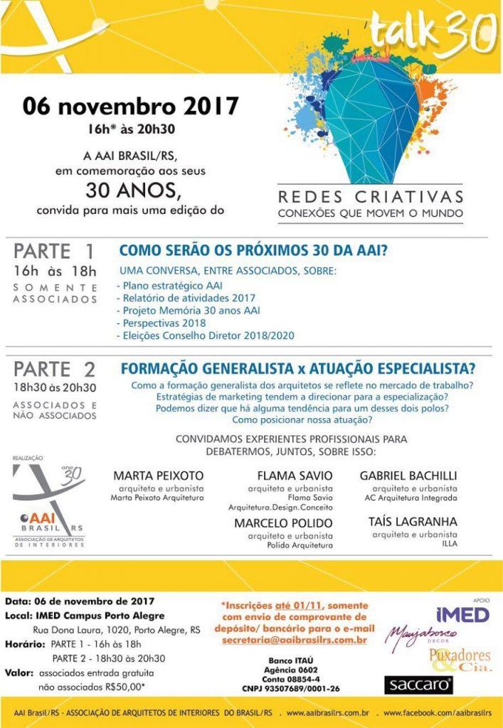 Associacao De Arquitetos De Interiores Discute O Futuro Da Profissao No Aai Talk30 Redes Criativas Revista Area