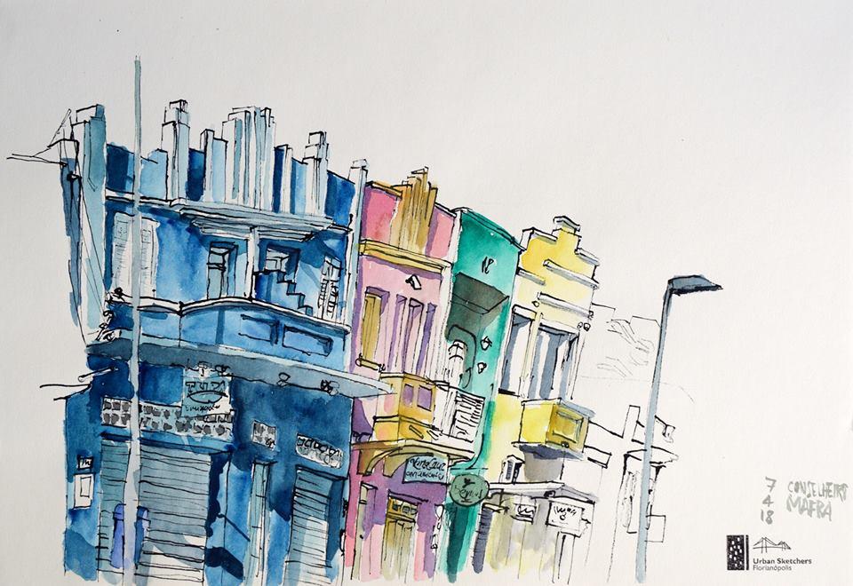 Movimento Urban Sketchers ganha força em Florianópolis