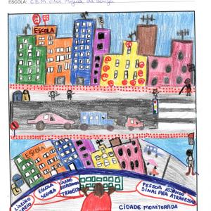 A 'cidade inteligente' sob o olhar das crianças é mote de intervenção de arte urbana coletiva em Florianópolis